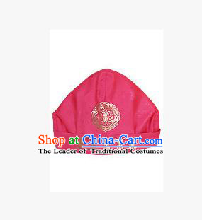 Traditional Korean Hair Accessories Embroidered Pink Hats, Asian Korean Fashion National Boys Headwear for Kids