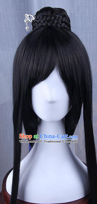 Traditional Handmade Ancient Chinese Tang Dynasty Imperial Prince Wig, Ancient Chinese Swordsman Wig for Men