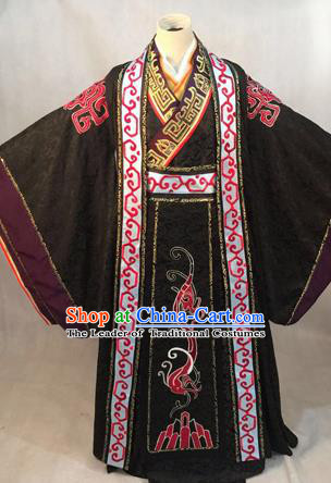 Traditional Ancient Chinese Han Dynasty Imperial Emperor Robes, Han Dynasty Imperial Emperor Dragon Costumes for Men