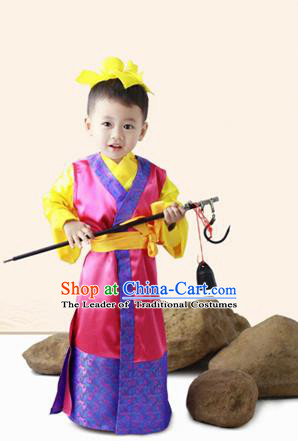 4dd98b9d4 Traditional Ancient Chinese Classic Children Costume, Chinese Ancient Boy  Dress, Cosplay Chinese Prince Cao Chong Clothing for Kids