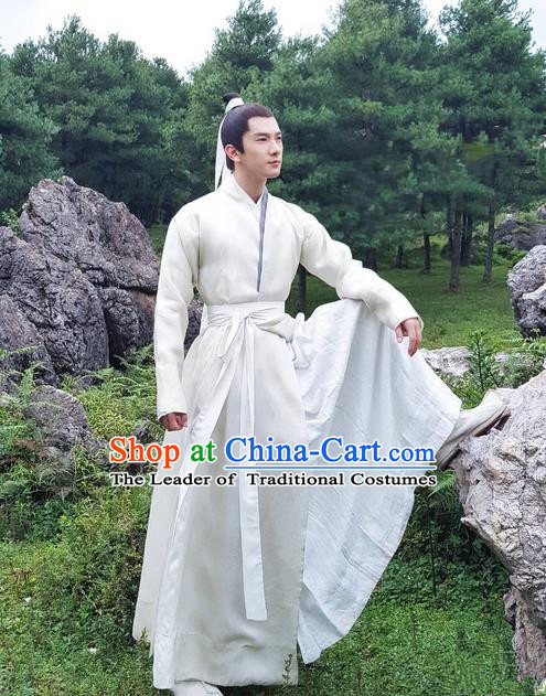 Traditional Ancient Chinese Nobility Childe Costume, Elegant Hanfu Male  Lordling Dress, Cosplay Han Dynasty