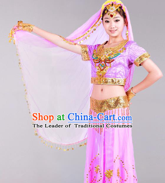 Traditional Chinese Belly Dancing Costume Belly Dance Clothing Complete Set for Women