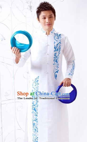 Traditional Top Grade Asian Vietnamese Costumes Classical Bridegroom Dress, Vietnam National Clothing for Men