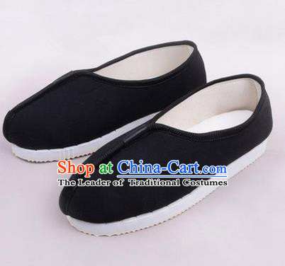 Chinese Shoes Wedding Shoes Kung Fu boots Wushu Shoes Men Shoes, Opera Shoes Hanfu Shoes Embroidered Shoes Black Monk Shoes