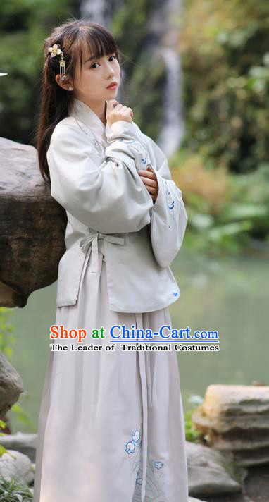 594de8fc411 Traditional Ancient Chinese Costume Ming Dynasty Slant Opening ...