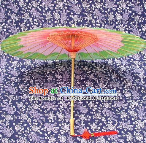 Handmade China Traditional Dance Painting Green Umbrella Oil-paper Umbrella Stage Performance Props Umbrellas