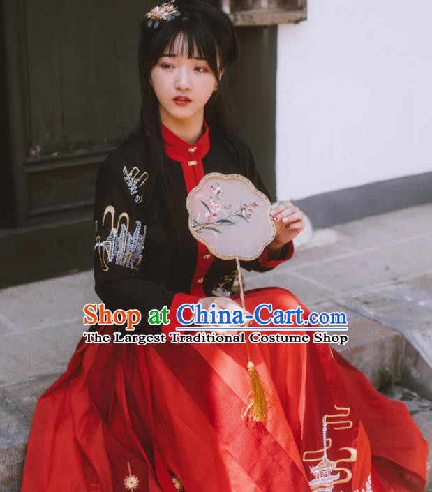 994893847df Chinese Ancient Maidenform Costumes Ming Dynasty Princess Embroidered  Blouse and Skirt for Women