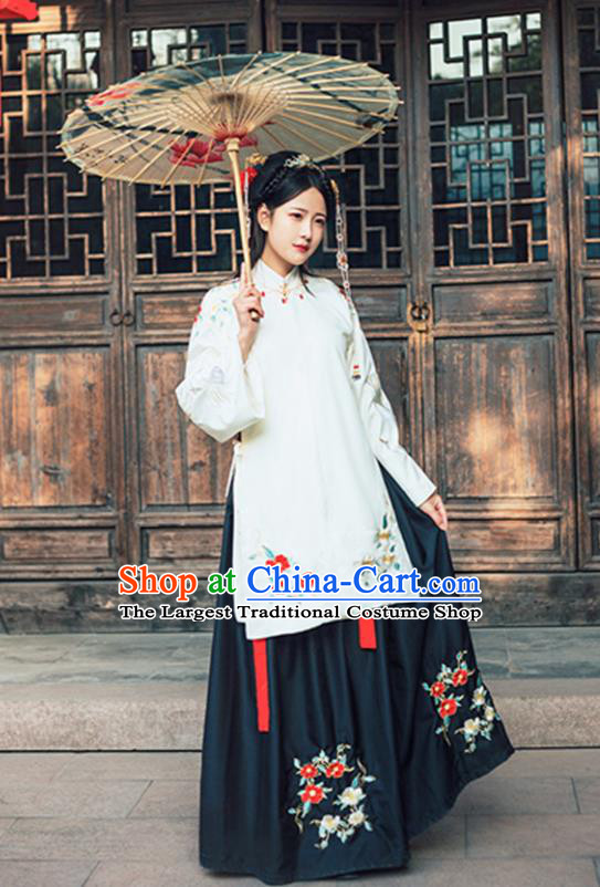 d3ab161081c Chinese Ming Dynasty Nobility Lady Hanfu Dress Traditional Ancient Princess  Embroidered Costumes for Women