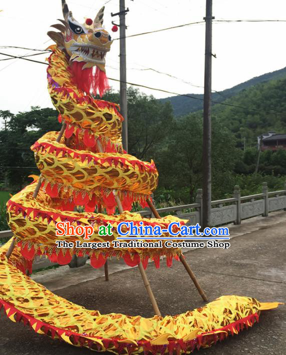 World Dragon Dance Competition Folk Dragon Head Chinese Traditional Dragon Dance Costumes Complete Set for Adult