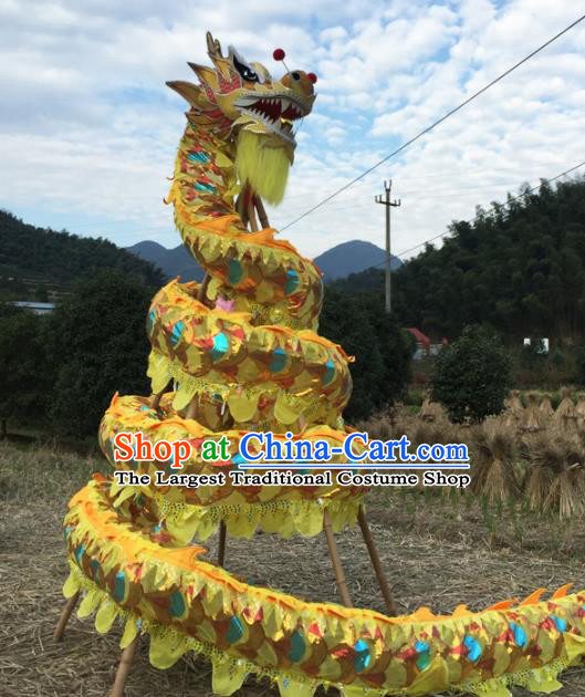 Chinese Folk Dance Dragon Dance Competition Dragon Head Traditional Dragon Dance Costumes Complete Set for Adult