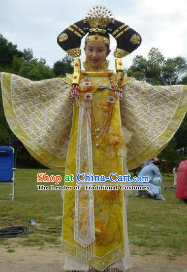 Chinese Ancient Qing Dynasty Jianning Princess Replica Costumes Manchu Dress Historical Costume for Women