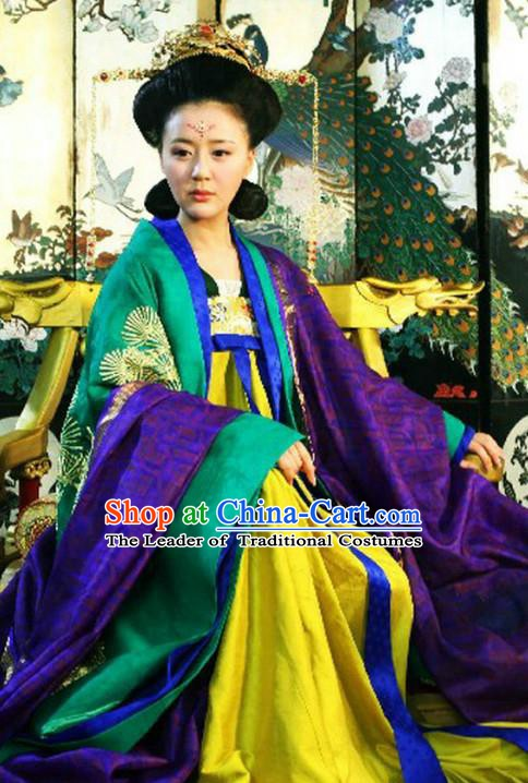 Chinese Tang Dynasty Queen Historical Costume Ancient Empress Wang Dress Replica Costume for Women