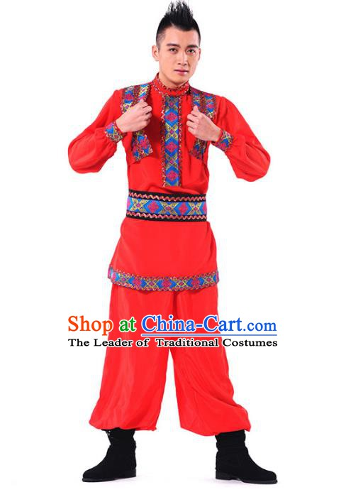 Traditional Chinese Uyghur Ethnic Nationality Dance Costume, Chinese Uigurian Minority Dance Costume for Men