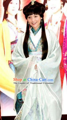 Chinese Ancient Princess Costumes Qin Dynasty Young Lady Hanfu Dress Replica Costume for Women