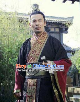 Traditional Chinese Ancient Qin State Diplomat Su Qin Replica Costume for Men