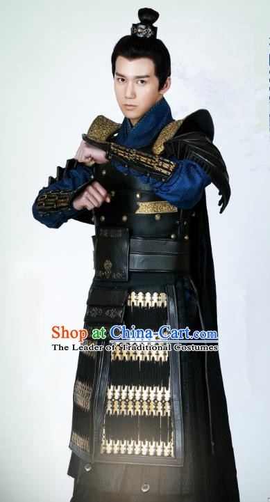 ec16ed27f Chinese Ancient Drama Untouchable Lovers Southern and Northern Dynasties General  Armor Replica Costume for Men