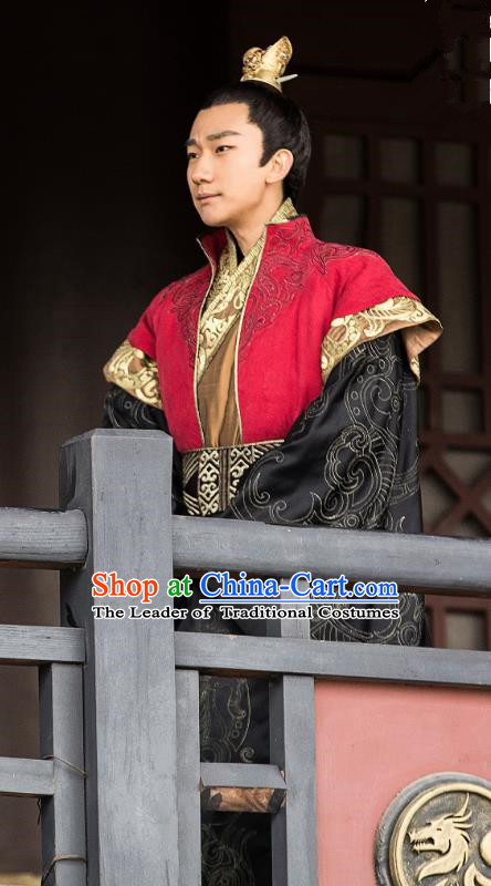 Nirvana in Fire II Chinese Ancient Royal Highness Xiao Yuanqi Embroidered Historical Costumes for Men