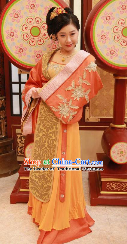 Chinese Ancient Court Maid Hanfu Dress Tang Dynasty Palace Maidservant Embroidered Costumes for Women