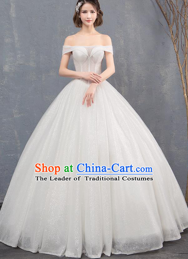 Top Grade Wedding Costume Compere Evening Dress Advanced Customization Bubble Dress Bridal Full Dress for Women