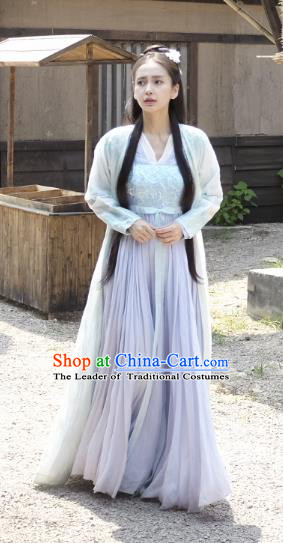 Chinese Ancient Swordswoman Hanfu Dress Northern and Southern Dynasties Female Knight-errant Replica Costume for Women