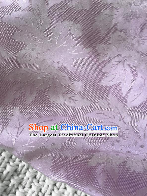 Asian Chinese Traditional Lilac Silk Fabric Royal Pattern Brocade Cheongsam Cloth Silk Fabric