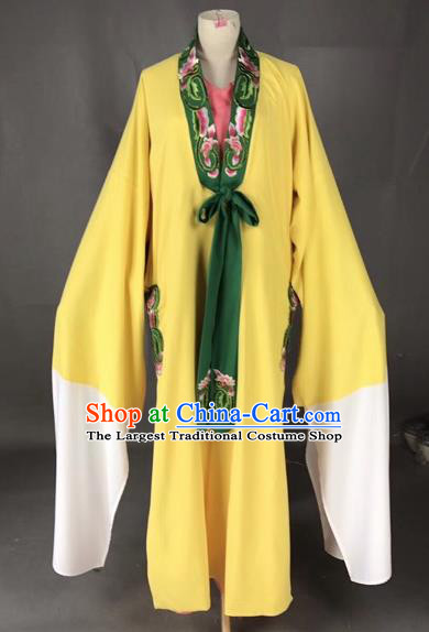 Chinese Traditional Beijing Opera Scholar Costume Peking Opera Niche Yellow Robe for Adults