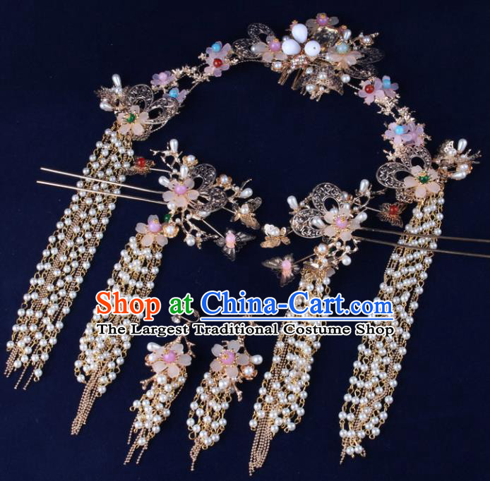Top Chinese Traditional Hair Accessories Wedding Tassel Hair Combs Hairpins for Women
