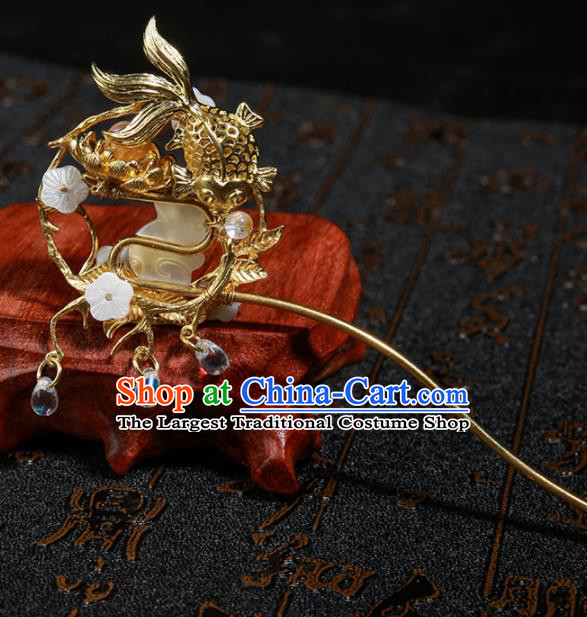 8bbf219b1 Chinese Ancient Traditional Hanfu Jade Rabbit Hairpins Handmade Classical  Hair Accessories for Women