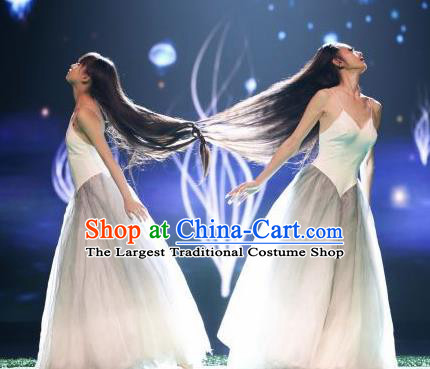 Chinese Traditional Classical Dance Costumes Stage Performance Peacock Dance Dress for Women