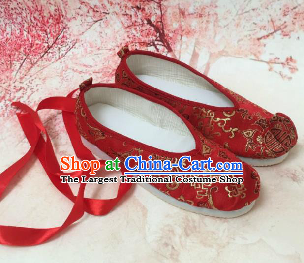 Traditional Chinese Shoes Red Wedding Shoes Ancient Princess Shoes Hanfu Shoes for Women