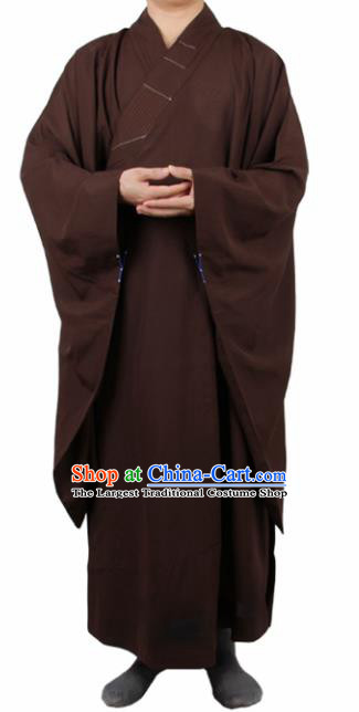 6e21a259f5a Chinese Traditional Buddhist Monk Brown Robe Buddhism Dharma Assembly Monks  Costumes for Men