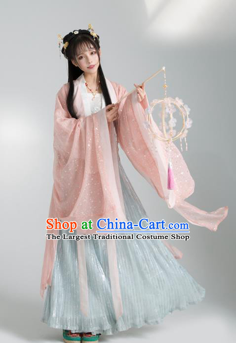 Asian Chinese Tang Dynasty Royal Princess Hanfu Dress Traditional Ancient Court Lady Costumes for Women