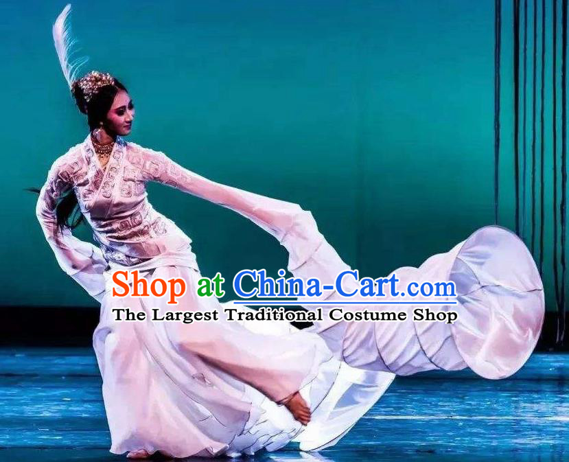 Chinese Ancient Stateswoman Fu Hao White Hanfu Dress Shang Dynasty Empress Fuhao Costumes Complete Set
