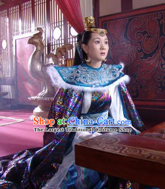 Chinese Ancient Mythology Goddess Xiangyao Hanfu Dress New Stone Age Court Princess Costume Complete Set