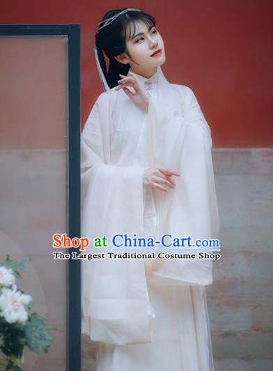 Traditional Chinese Ming Dynasty Court Infanta Apricot Hanfu Dress Ancient Royal Princess Historical Costumes for Women