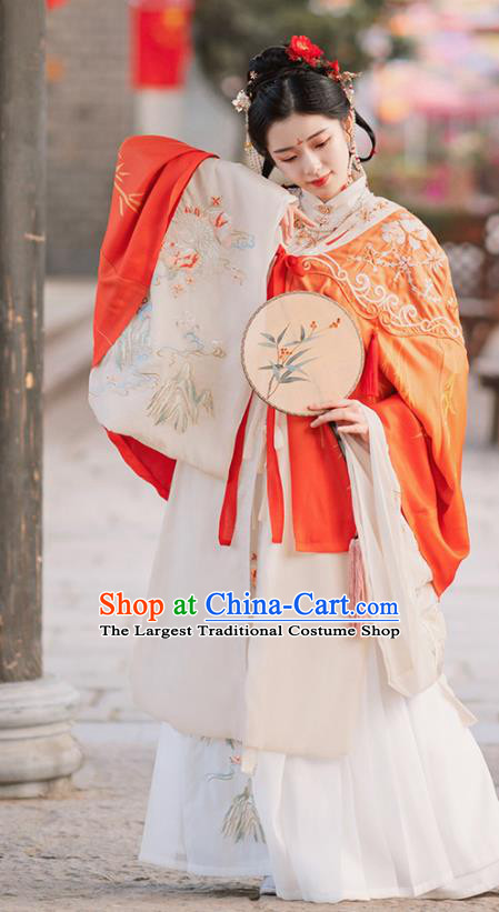 Traditional Chinese Ming Dynasty Royal Princess Replica Costumes Ancient Court Infanta Hanfu Dress for Women