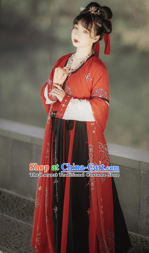 Chinese Tang Dynasty Court Maid Hanfu Dress Traditional Ancient Palace Maidservants Costumes for Women