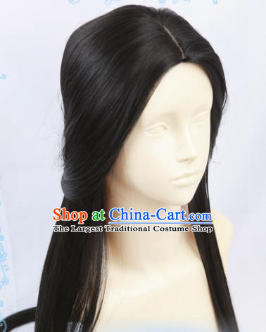Chinese Traditional Cosplay Imperial Concubine Hair Wigs Ancient Female Swordsman Wig Sheath Hair Accessories for Women