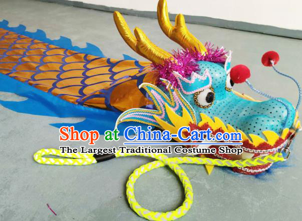 Chinese Folk Dance Dragon Dance Competition Blue Dragon Head Traditional Dragon Dance Prop for Adult