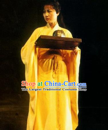 Chinese Drama Shang Yang Qin Dynasty Court Dance Dress Stage Performance Costume and Headpiece for Women