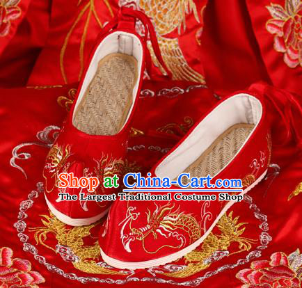 Chinese Wedding Red Shoes Traditional Hanfu Shoes Opera Shoes Embroidered Shoes for Women