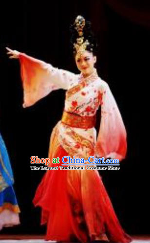Lady Zhaojun Chinese Han Dynasty Classical Dance Dress Stage Performance Dance Costume and Headpiece for Women