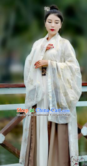 Chinese Ancient Imperial Concubine Hanfu Dress Jin Dynasty Court Lady Historical Costume for Women