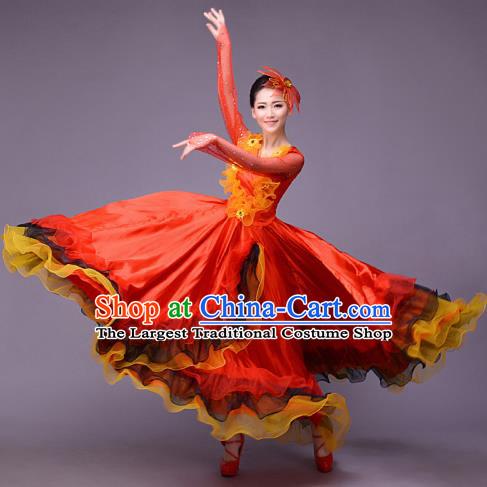 268a6650b0fb Top Grade Opening Dance Modern Dance Costume Classical Chorus Group Red  Dress for Women