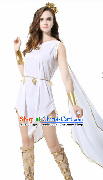 Traditional Greece Costume Ancient Greek Goddess White Dress for Women