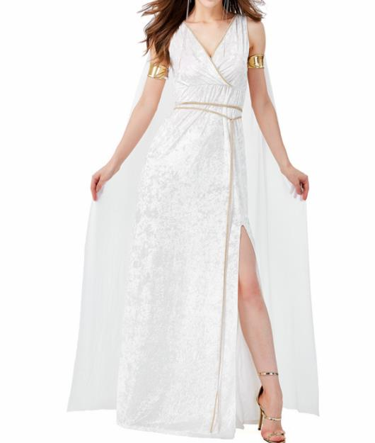 Traditional Greek Goddess Costume Ancient Greek Princess White Dress for Women