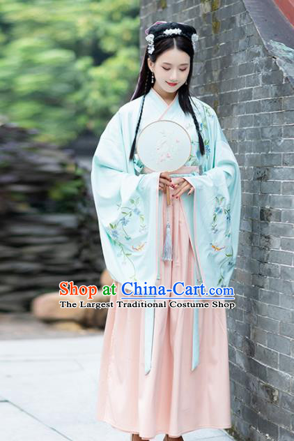 Chinese Ancient Palace Princess Hanfu Dress Traditional Jin Dynasty Replica Costume for Women
