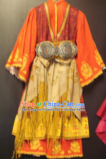 Traditional Greek Festival Costume Strophion Orange Peplos Ancient Greece Goddess Dress for Women