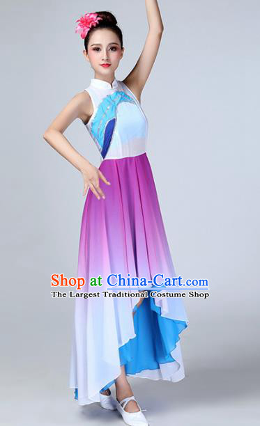 Chinese Traditional Stage Performance Dance Costume Classical Dance Purple Dress for Women