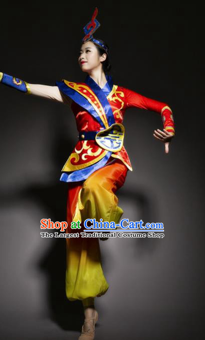 Chinese Traditional National Minority Dance Costume Ethnic Folk Dance Costume for Women